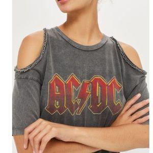 6f7ac16e Topshop Tops - Topshop ...And Finally AC/DC Chain Trim Shirt